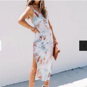 Vici tie dye midi dress